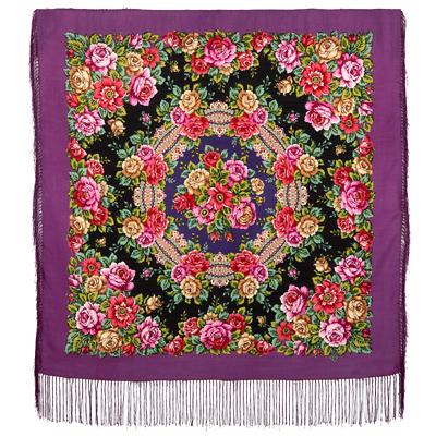 Tröja rysk sjal mönster rossjal ros blommor gul röd svart grön rosa