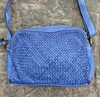 Mjuk väska från La Via Firenze, 22x1x10,  blå