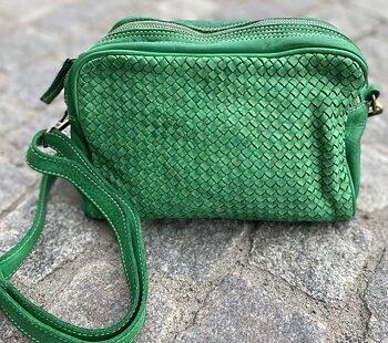 Mjuk väska från La Via Firenze, 22x1x10 , Emerald Green