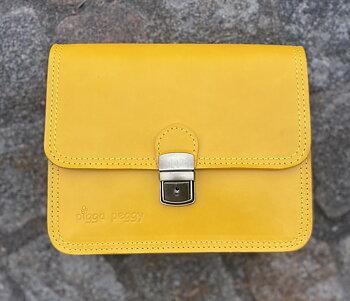 Miniboxväskan 20x18 cm,  gul