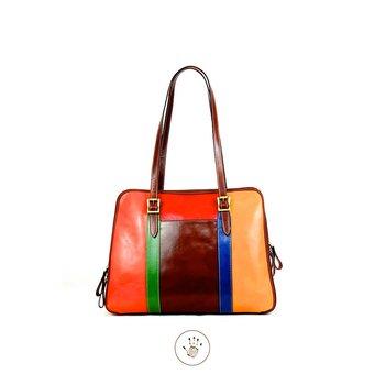 Väskan  Färgglad, modell Argo  från  Tornabuoni,41x10x31
