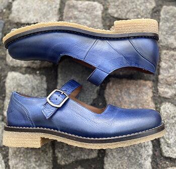 Rosa Negra Mary Jane sko, blå