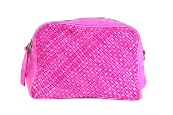 Mjuk väska från La Via Firenze, 22x1x10, cerise