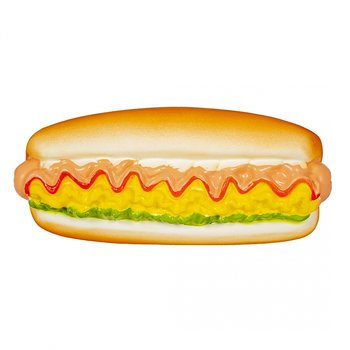 Duvo+ Hundleksak Latex Hot Dog 16x7x6cm
