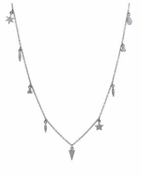Charm Necklace 9 Black