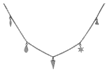 Charm Necklace 5 Black