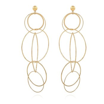 Torsade multi EARRINGS gold