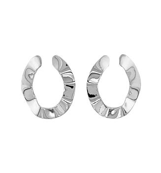 Flat Open Hoop Silver
