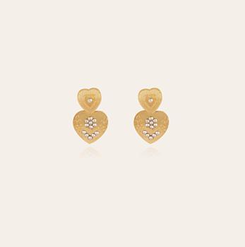 Love mini gold earrings