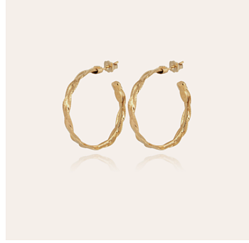 Tresse medium hoop earrings in gold