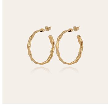 Tresse medium hoop earrings in gold