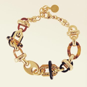 Acetat bracelet goldplated