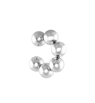 Bubble Ear Cuff Silver - medium