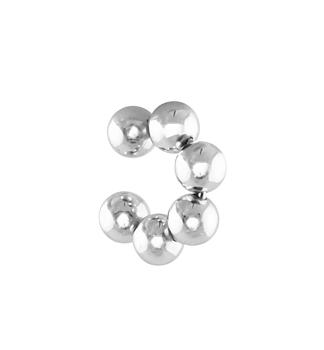 Bubble Ear Cuff Silver - medium