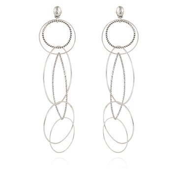 Torsade multi EARRINGS silver