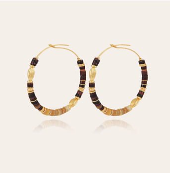 Aloha gold hoop earrings