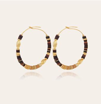 Aloha gold hoop earrings