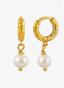 mini fay hoops pearl gold