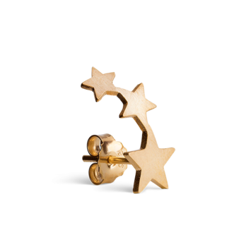 Row of star stud gold