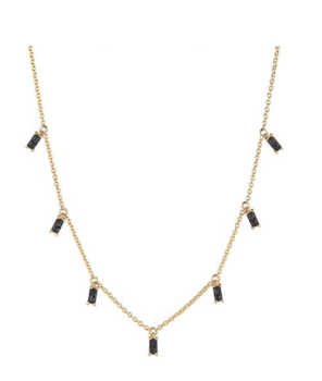 Necklace Princess Baguette black spinell
