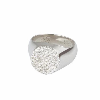 Multi Stones Signet Ring Silver