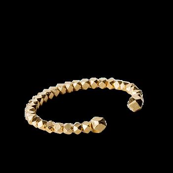Chunky Bead Bracelet-guld