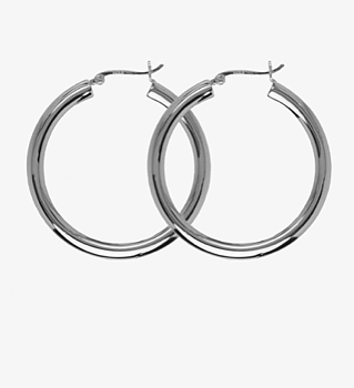 Classic Hoops Silver