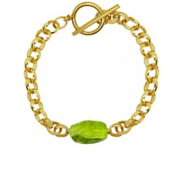 Ovoid bracelet gold