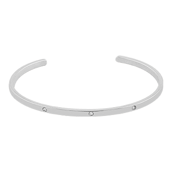 Brilliant Bangle Brace Silver