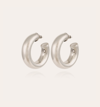 Silver plated Thick hoops
