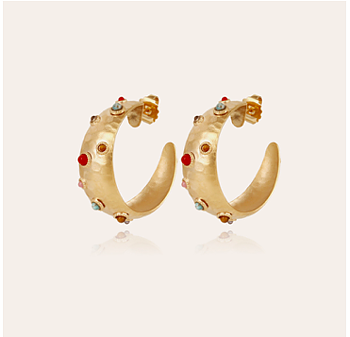 Leontia earrings gold plated