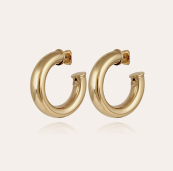 Thick Hoops gold plated