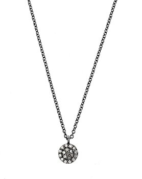 Disc Necklace Small Black