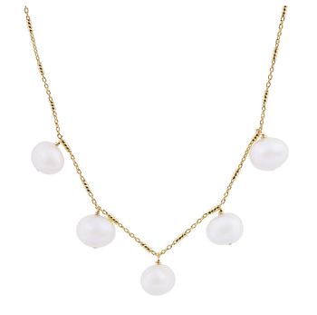 5 x pearl necklace