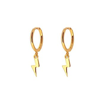 Mini hoops blixt gold