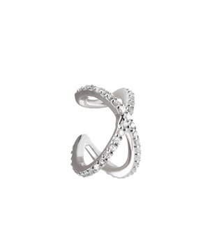 CROSS EAR CUFF silver