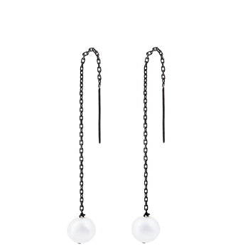 SINGLE PEARL CHAIN EARRING