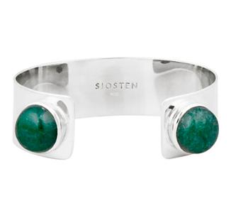 Twin Stone Bracelet Sterling silver