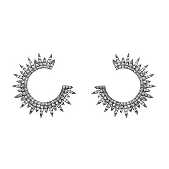 Moon Star Earring Black