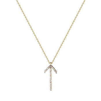 Arrow gold Necklace light Brown
