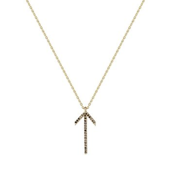 Arrow gold Necklace black