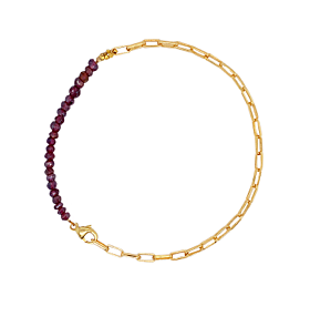 Ruby Coated gemstone Bracelet