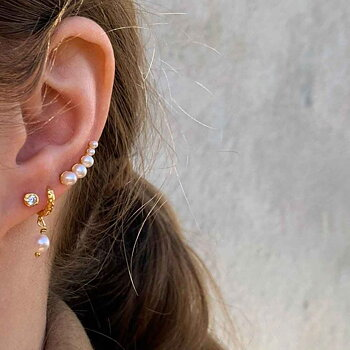 Pearl Croissant earrings