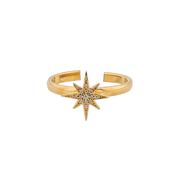 One Star Ring Gold