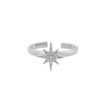 One Star Ring Silver
