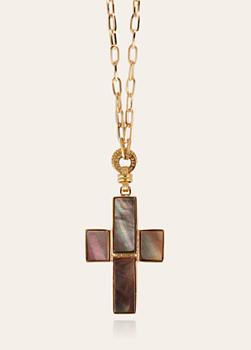 Croix Serti Gold