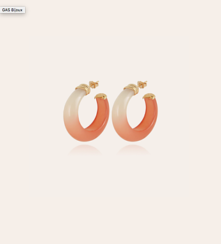 Abalone Hoops acetat earrings