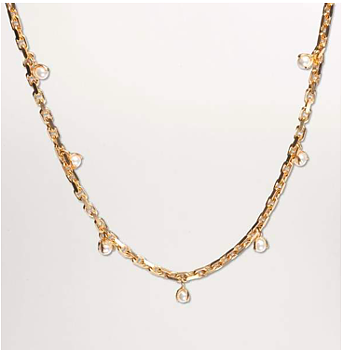 Pearled Necklace L Gold