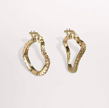Distorted Hopps earrings small