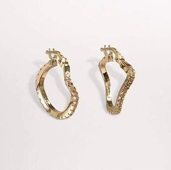 Distorted Hopps earrings small